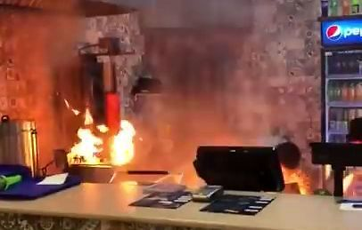 Wybuch pożaru w rosyjskim centrum handlowym