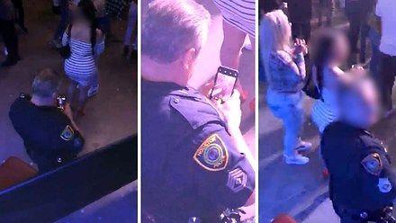 Policjant zrobił sobie zdjęcie dupeczki na pamiątkę