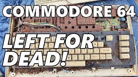 Pierwsze uruchomienie zardzewiałego i brudnego Commodore 64