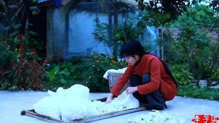 Tradycyjna chińska produkcja jedwabiu