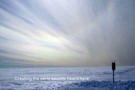 Dźwięki wydawane przez pokrywę lodową na Antarktydzie