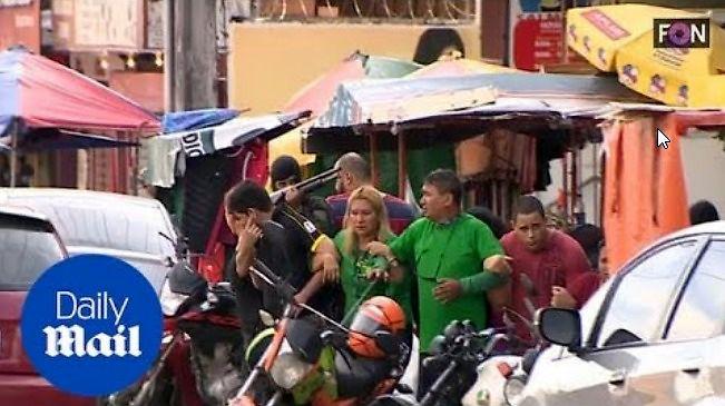 Ludzka tarcza - poziom brazylijscy przestępcy