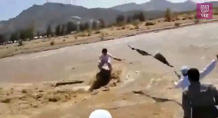 Powódź na pustyni i oryginalny ratunek