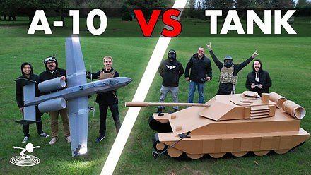 A-10 Warthog kontra czołg - walka na kulki