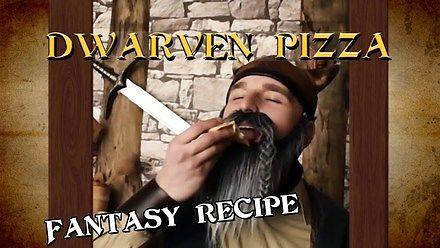 Krasnolud pokazuje jak zrobić pizzę