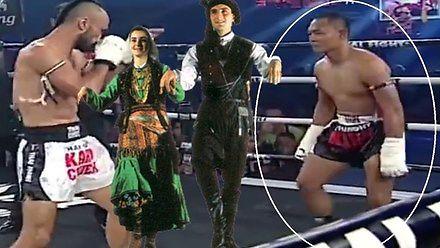 Pewny siebie kozak w ringu