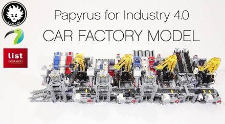 Zautomatyzowana fabryka samochodów z klocków LEGO