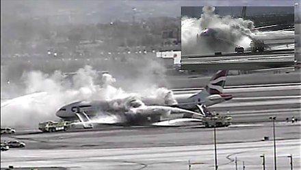 Akcja lotniskowej straży pożarnej.