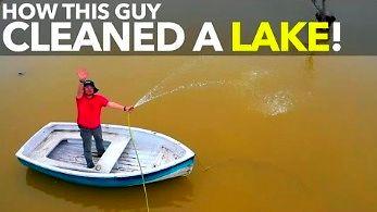 Absolwent japońskiego uniwersytetu oczyszcza jezioro za pomocą organicznej nanotechnologii