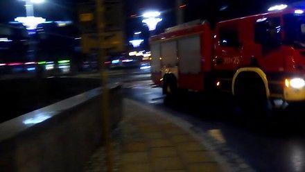 Łuki elektryczne strzelające z torowiska we Wrocławiu