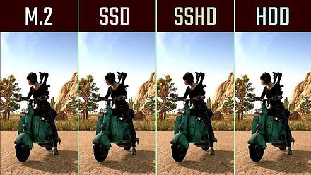 Różnice w ładowaniu gier na przykładzie dysków: M.2 NVME, SSD, SSHD, HDD