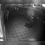 Nagranie z próby podpalenia pubu w Lubinie
