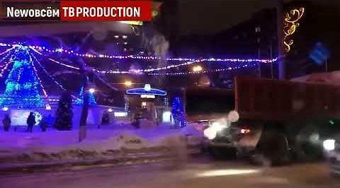 Odśnieżanie ulic w Rosji