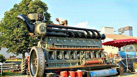 Uruchamianie gigantycznych silników Diesla