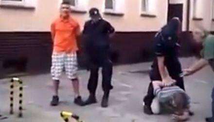 Policjant obezwładnia Sebixa szybkim strzałem