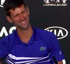 Novak Djokovic po wygraniu 15. wielkoszlemowego turnieju