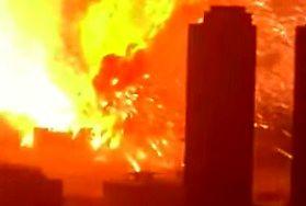 Niesamowita eksplozja w Tiencin