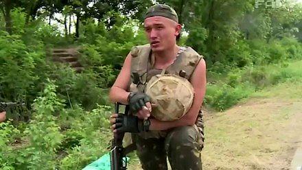 Sfrustrowany ukraiński żołnierz