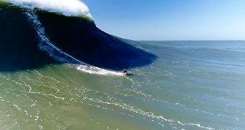 Kolejny popis oceanu - 18-metrowe fale w Nazare