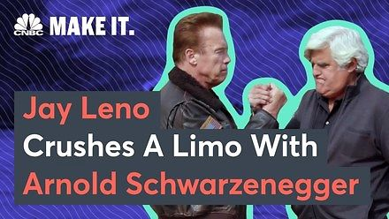 Arnold Schwarzenegger i Jay Leno bawią się czołgiem