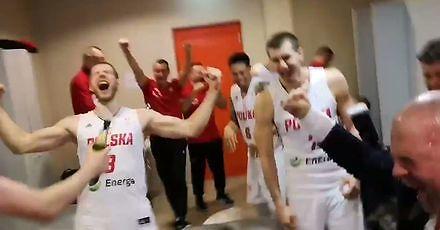 Radość polskich koszykarzy po historycznym awansie na MŚ