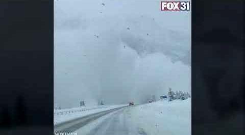 Lawina przysypuje autostradę międzystanową w Kolorado