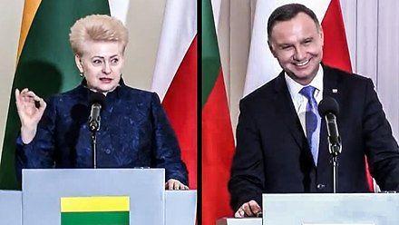 Prezydent Litwy zaskoczyła prezydenta Andrzeja Dudę