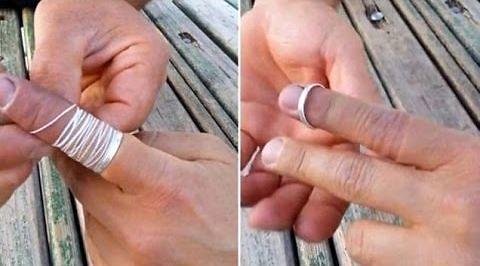 Jak zdjąć pierścionek, który utknie na palcu?