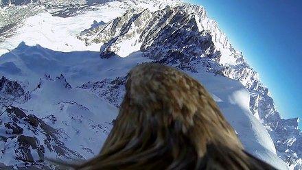 Mont Blanc w prawdziwym ujęciu z lotu ptaka