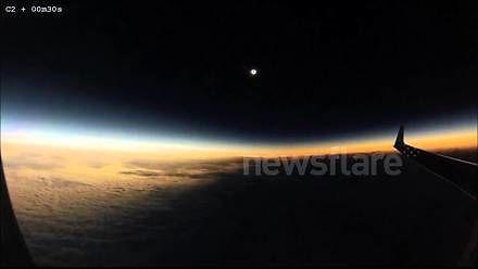 Zaćmienie Słońca widziane z wysokiego pułapu