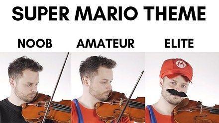Motyw z Super Mario zagrany nieco inaczej