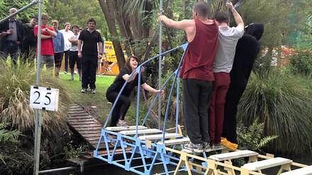Konkurs budowy drewnianych mostów