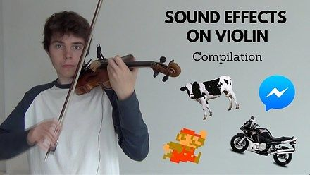 Różne dźwięki grane na skrzypcach
