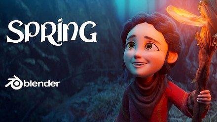 Wiosna - animacja stworzona w Blenderze