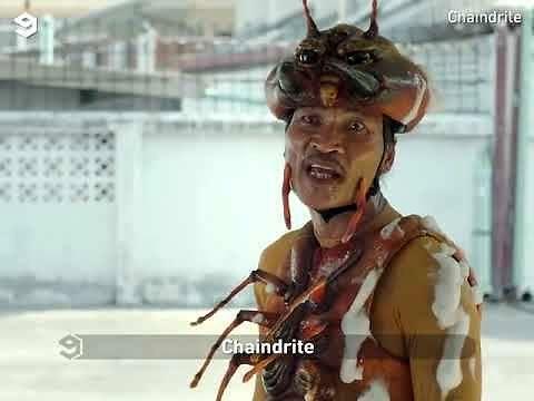 Azjatycka reklama środka owadobójczego