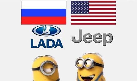 Amerykański Jeep vs rosyjska Łada