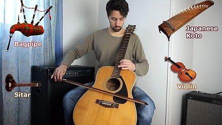 Imitacja innych instrumentów na gitarze