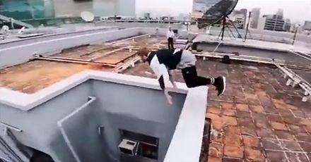 Parkour na dachach wieżowców