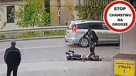 Dramatyczny wypadek motocyklisty w Jarosławiu...
