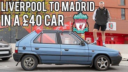 Skodą za 40 funtów z Liverpoolu do Madrytu na Finał Ligi Mistrzów