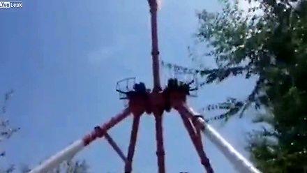 W Uzbekistanie złamała się atrakcja w parku rozrywki
