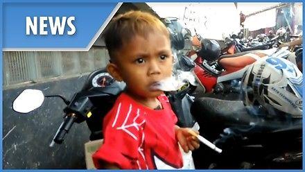 Ma niecałe 3 lata, a wypala 40 papierosów dziennie...