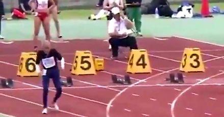 Bieg na 100 metrów w wykonaniu 102-latka