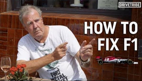 Jeremy Clarkson tłumaczy co jest nie tak z F1