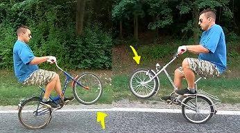 Rowerowe triki i motorynka