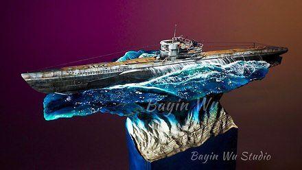 Piękna makieta U-Boota