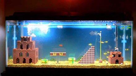 Super Mario Bros Akwarium