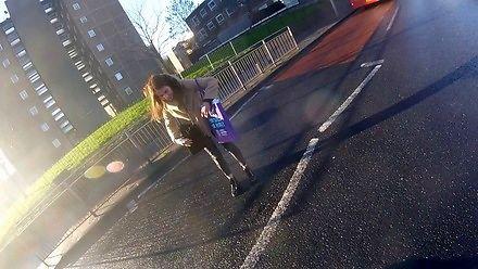 Smartfonowe zombie (piesza vs motocykl)