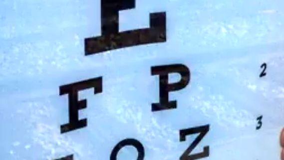 Żeby zbadać wzrok, odejdź trzy metry od plakatu