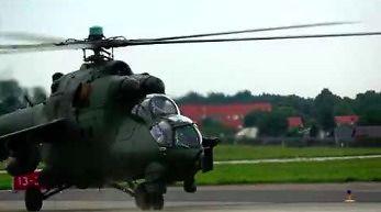 Mi-24 na chwilę przed pokazami lotniczymi w Gdyni.